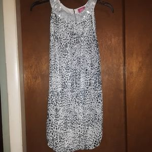 Pinky girls 12 gray cheetah holiday/party dress